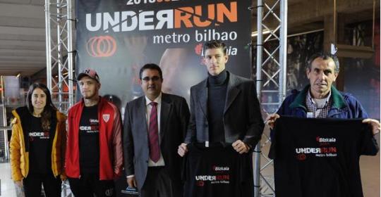 Una carrera por los túneles de Bilbao con deportistas de élite